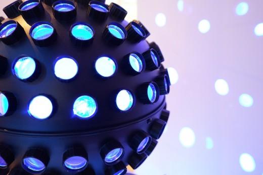 Disco ball in clubs