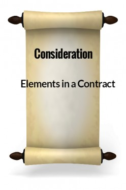 Elements in a Contract V - Consideration