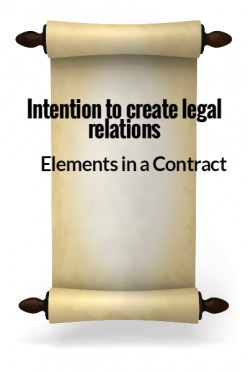 Elements in a Contract VI - Intention to Create Legal Relations