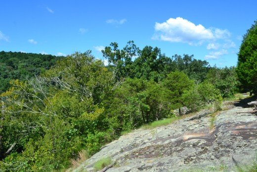One of many observation points within the Illinois, Shawnee National Forest.