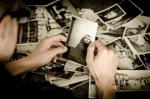 Old photos can spark memories.