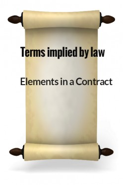 Elements in a Contract XI - Terms implied by law