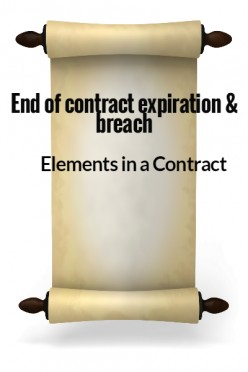 Elements in a Contact XIV - End of contract - expiration and breach