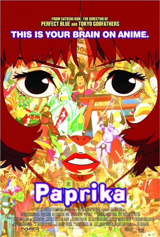Paprika animated movie poster