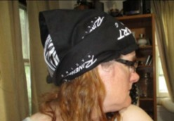 Minnesota Sewing Project: Motorcycle Head Wrap for Hot Weather Riding