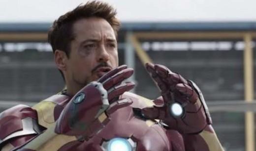 Robert Downey Jr. as Iron Man in Civil War. Photo: Marvel Studios