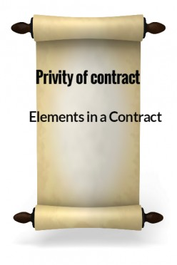 Elements in a Contract XXVIII - Privity of contract