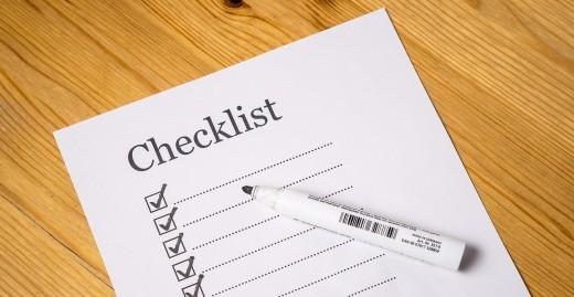 Checklist for topics