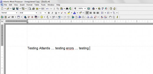 Atlantis Word Processor spots plenty of toolbars reminiscent of MS Office 2003