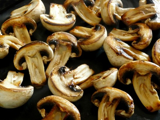 Mushrooms sauteed in olive oil and butter!