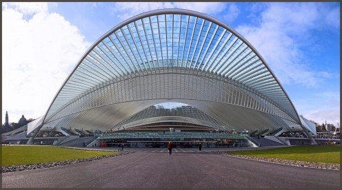 The Liege Guillemins Train Station in Belgium.