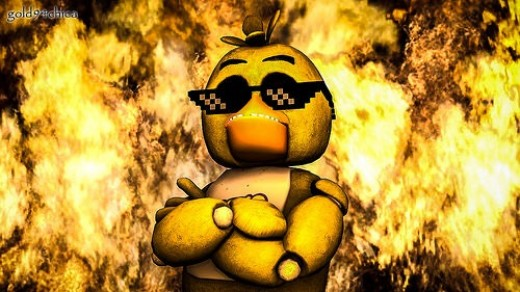 Chica started that fire, Chica gonna look cool in the process.