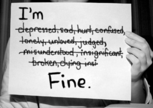 If you're not fine, stop pretending like you are. It is hard to believe, but you CAN actually become fine - beyond fine, even. Authentic living is obtainable & FUN! :)