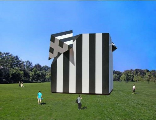 An Enormous Box Sculpture.