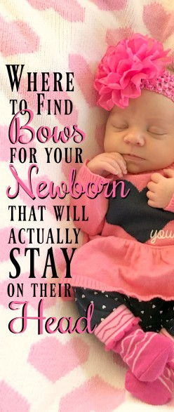 Where to Find Bows for Your Newborn That Will Actually Stay on Their Head