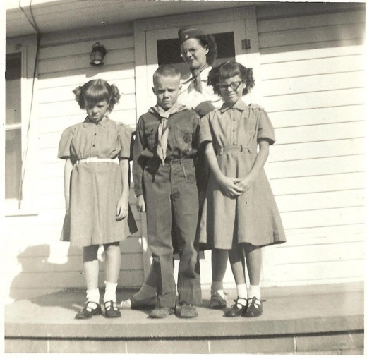 Our mother was the scout master for the boy scout troop that Owen was in. My sister and I were in Brownies.