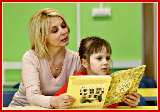 When children see their parents reading, it encourages them to read, also.