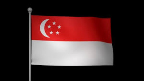 In 1959, the national flag of Singapore was introduced and it is red and white.