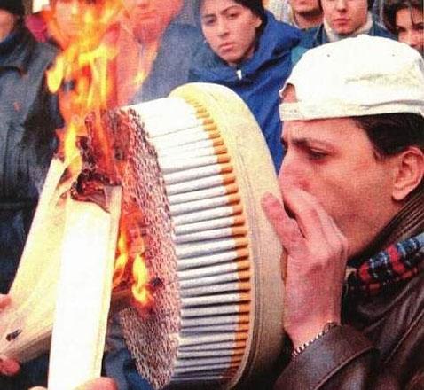 Severley addicted smoker
