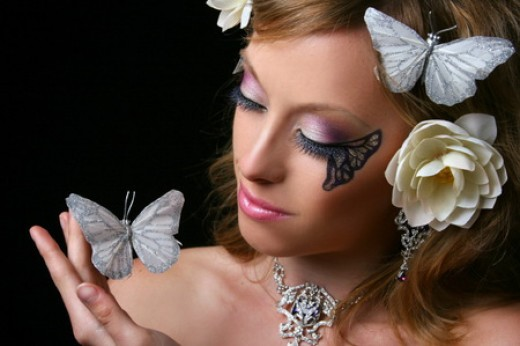 Butterfly inspired makeup