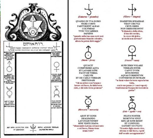 Porta Magica Roma Inscriptions.