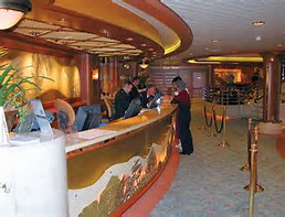 The Front Desk of the Coral Princess ...