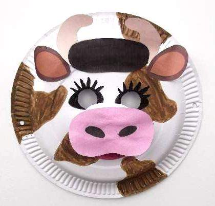 Paper Plate Cow Mask & How To Make A Paper Plate Cow | HubPages
