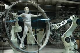 A Host being made using mechanical arms like a 3-D printer.