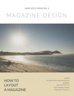 How to create a magazine layout using free desktop publishing software