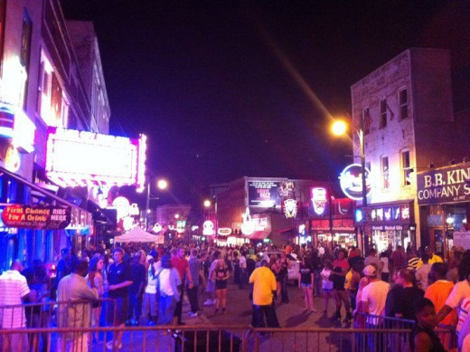 Beale Street is a street in Downtown Memphis, Tennessee, which runs from the Mississippi River to East Street, a distance of approximately 1.8 miles