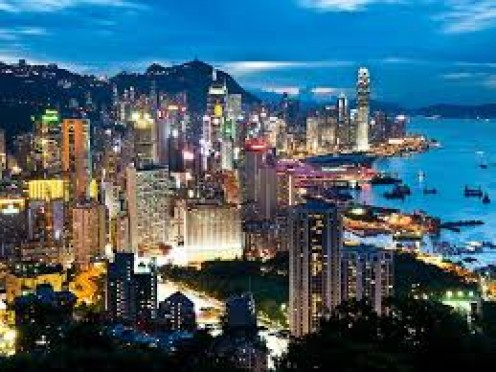 Hong Kong covers a total of 427 square miles and has a population of just over 7.4 million people.