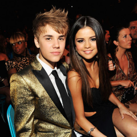 Justin (left) and Selena (right)