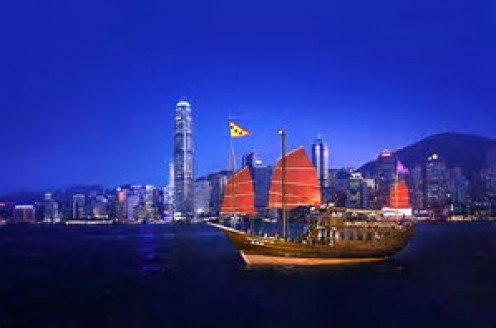All types ships cruise the Hong Kong waters with exports, imports and visitors.