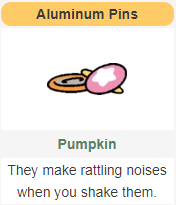 The memento that Pumpkin leaves after enough visits