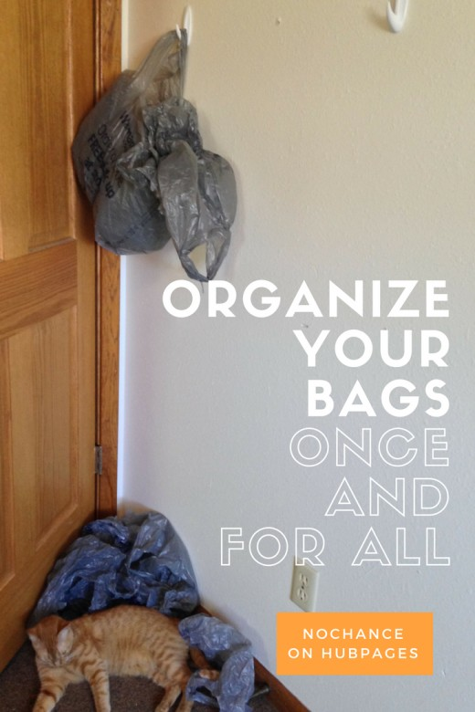 Plastic Shopping Bags Everywhere? Declutter, reduce, and switch to reusable bags as often as possible.
