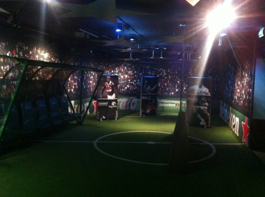 The football museum is a self-guided part of the tour