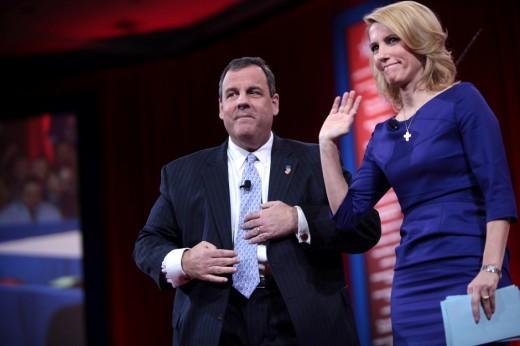 New Jersey Governor Chris Christie with Laura Ingaram.