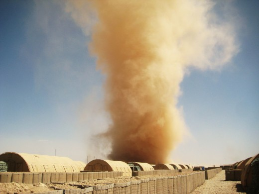 A large dust-devil in Afghanistian