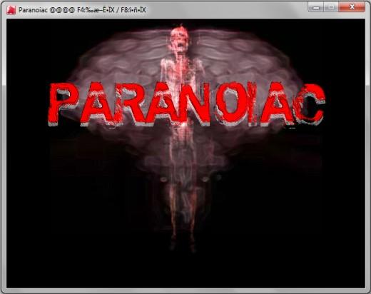 Paranoiac Game Main Window