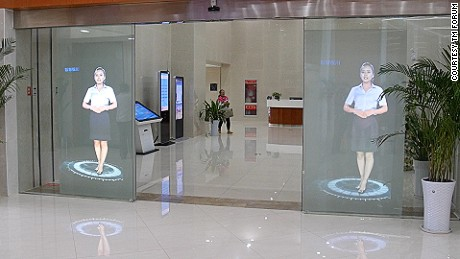 Visitors to Yinchuan's mayor's office are now served by holograms rather than people