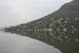 Reflections of the village of Kosmos