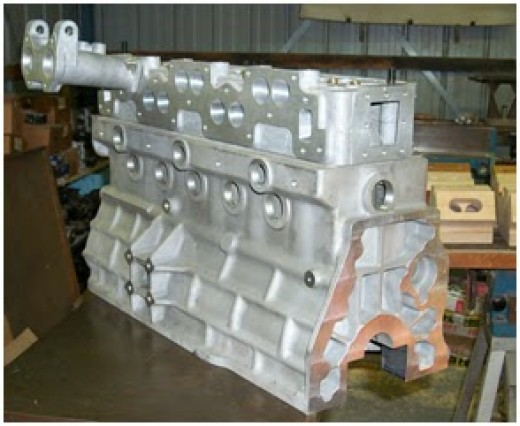 cast engine block for a car