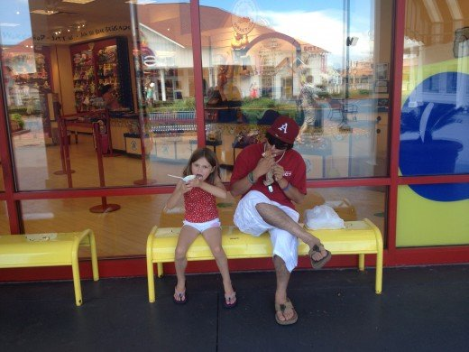 Amazing shopping center in Myrtle Beach.  Nothing is better in summer than an ice cream break!