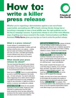 Headlines and Body count in Writing for Public Relations