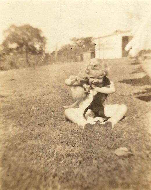 This is little CJ about 4 years before Pearl Harbor. She would be about 3 here, and at the time of the event, was 7 years old.
