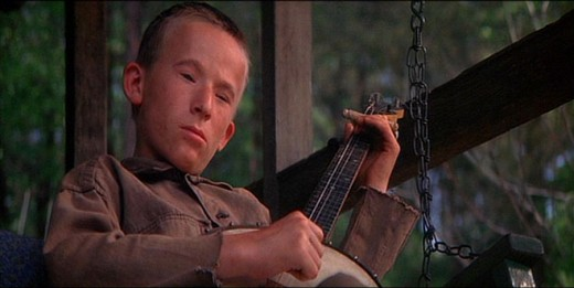 "Billy Redden as ""Lonnie"", the creepy banjo playing kid from ""Deliverance"""