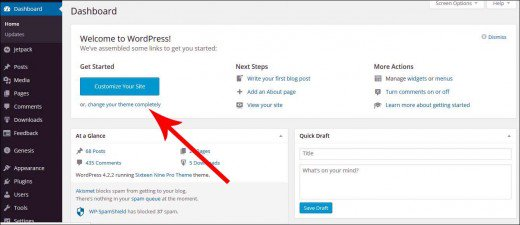 Go to your WordPress dashboard