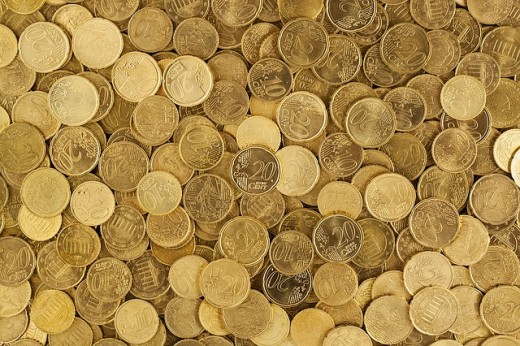 Gold coins have much dollar value.