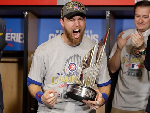 Former Royal, Ben Zobrist wins  World Series MVP for Cubs in 2016.