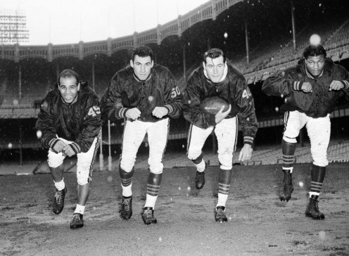Probable starting backfield  for Chicago Bears in 1956  NFL Championship.